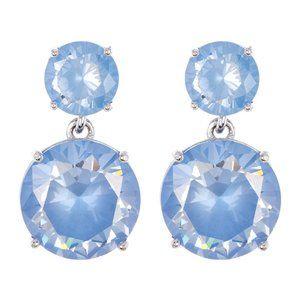 NEW Kate Spade Double Drop Blue Crystal Earrings